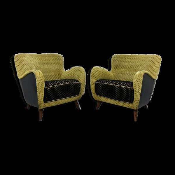 Ensemble de 2 fauteuils  années 1950