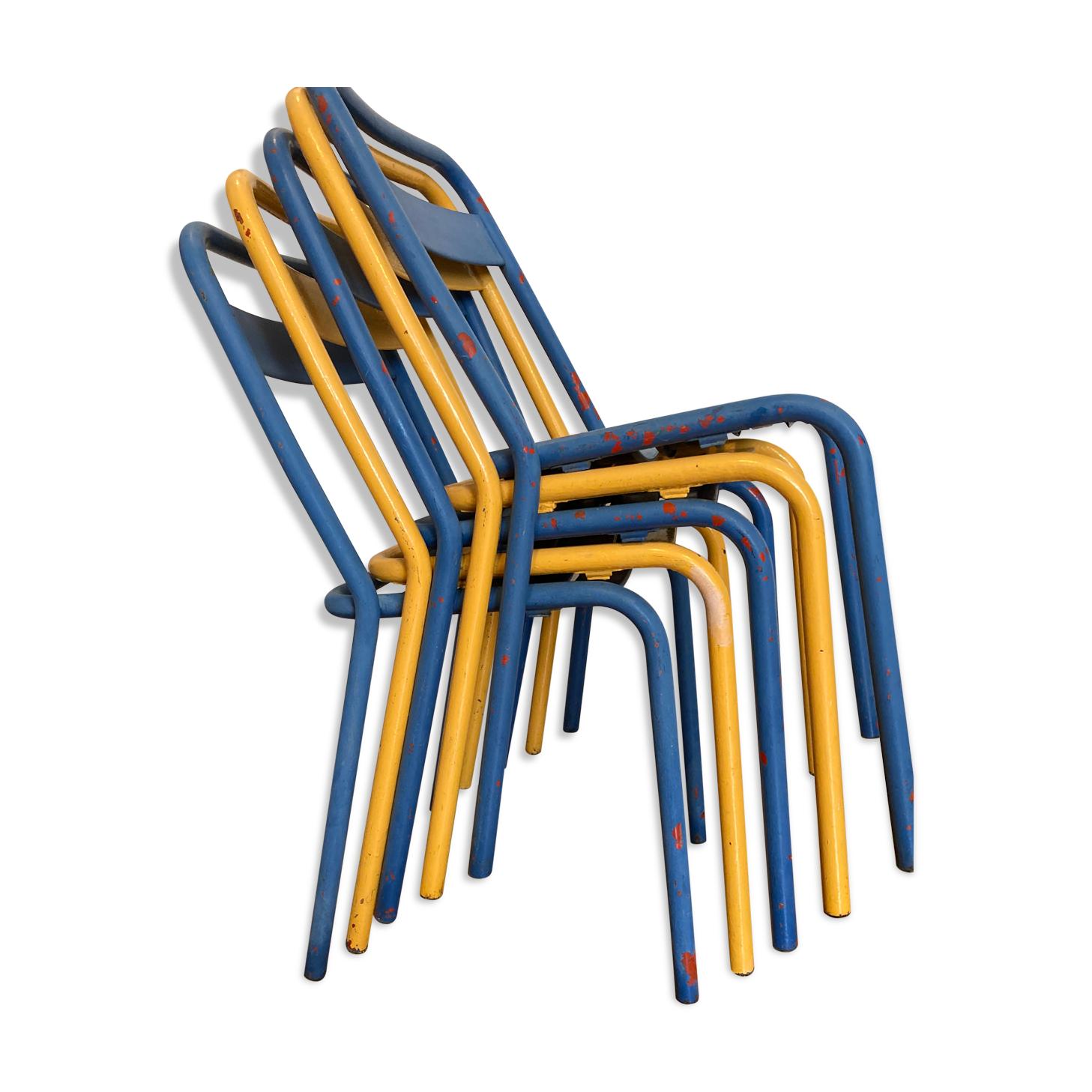 Lot de 5 chaises Tolix