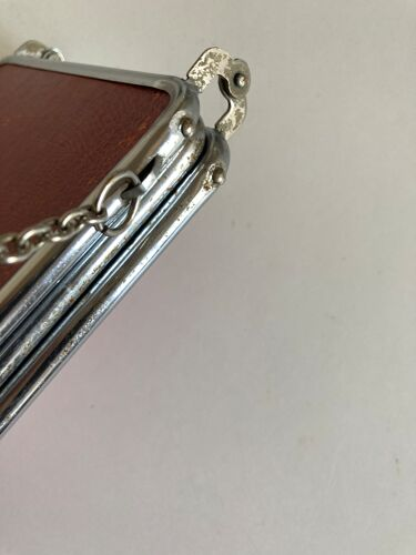 Miroir de barbier triptyque à l'italienne horizontal 1960 L69cm