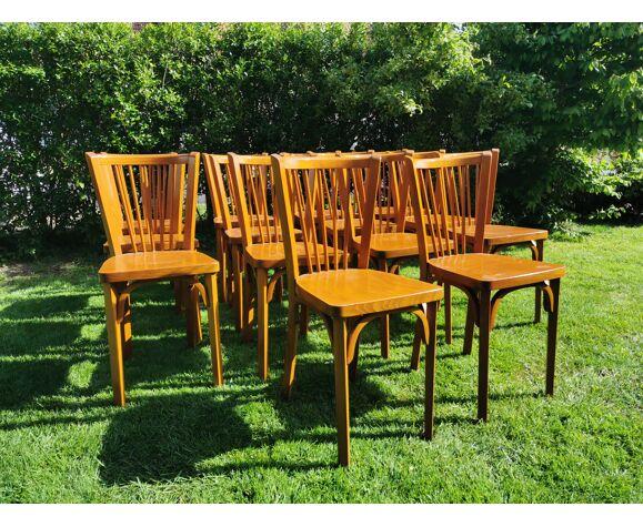 Lot de 14 chaises bistrot Baumann