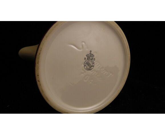 Cruche en faience de Lunéville modèle Reverbère 16.6 cm