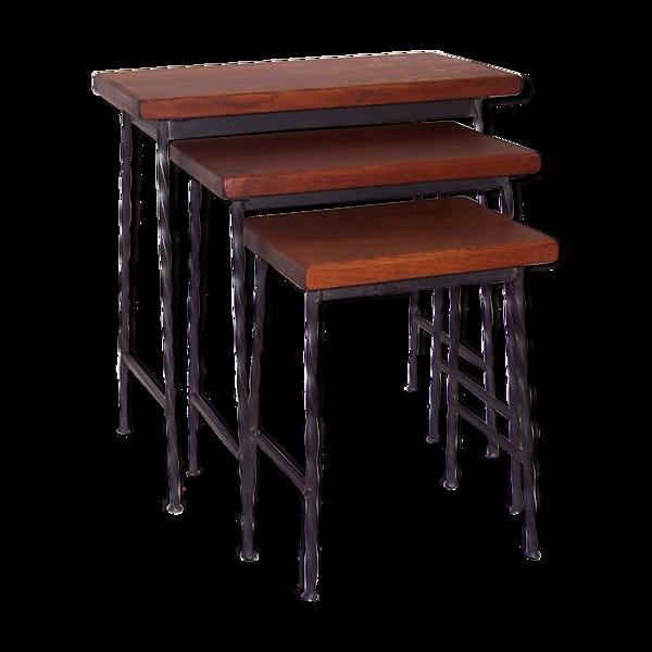 Set 3 tables gigognes années 50