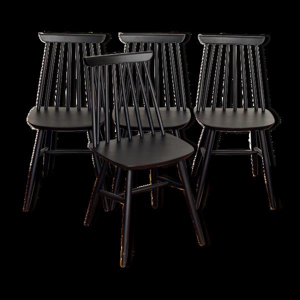 Ensemble de 4 chaises à barreaux