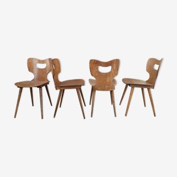 Serie de 4 chaises bistrot Baumann modèle Marteau