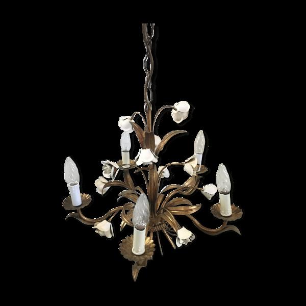 Lustre gerbe de fleurs, 60