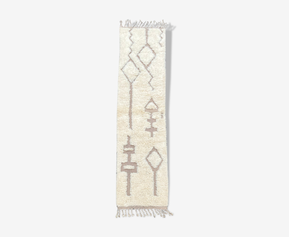 Tapis berbere de couloir beni ourain  100x200 cm