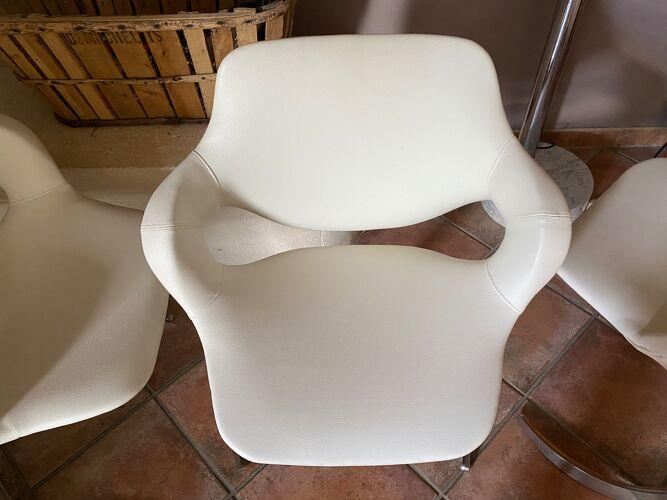 Lot de 3 chaises boris tabacoff pour mmm 1970
