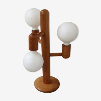 Vintage lamp from Waldi Leuchten, teak, 1980s