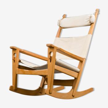 Rocking-chair danois model GE-273 par Hans J. Wegner pour Getama, années 1950
