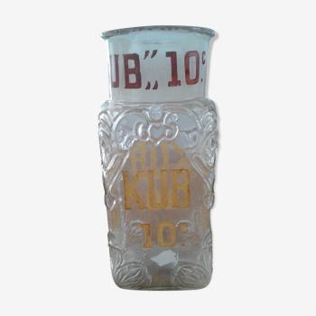 Pot en verre bouillon kub 1930/40