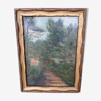 Peinture sur bois pinède landaise