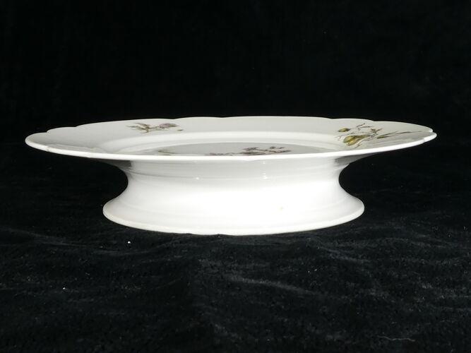 Compotier en porcelaine de Limoges pour E. Bourgeois Paris