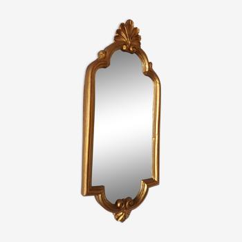 Miroir baroque doré 16x39cm