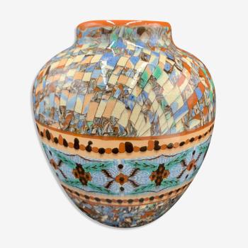 Vase boule mosaïque23 gerbino, vallauris