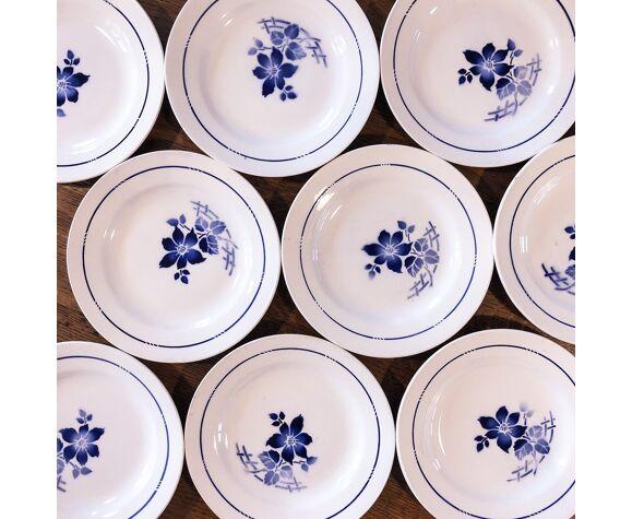 Set de 9 assiettes semi-creuses St Amand