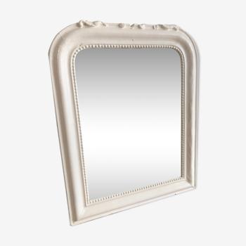 Miroir cheminée Napoléon lll blanc cassé 52x64cm