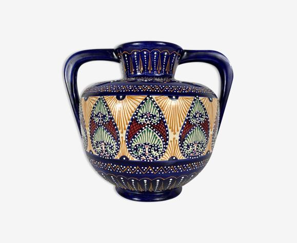 Vase a anses hb quimper décor perlé