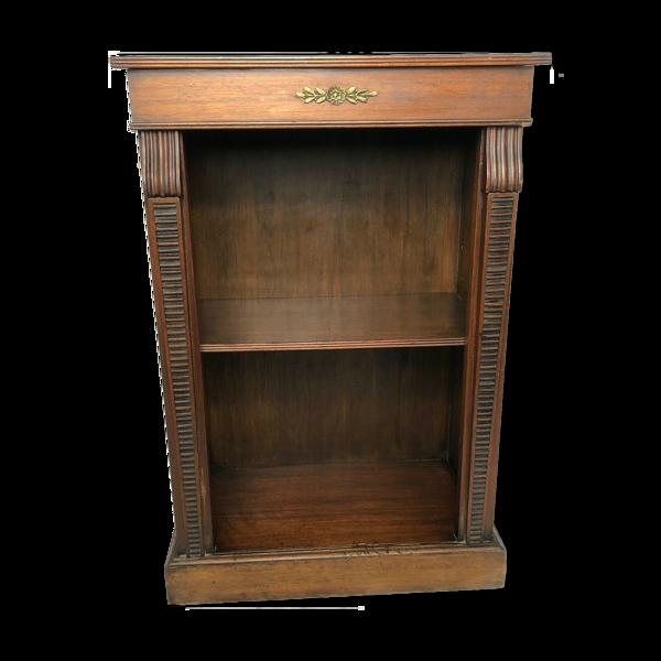 Bibliothèque en bois 1 fine vintage anglais nain acajou