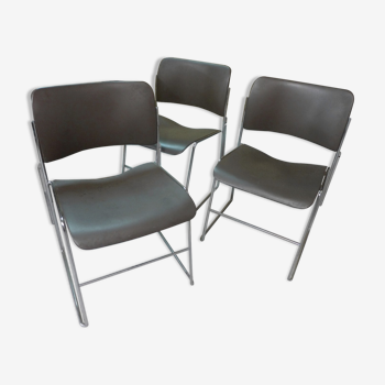 3 chaises Design D. ROWLAND 1964 HOWE 40-4