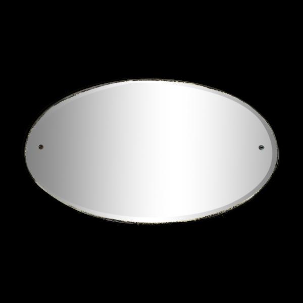 Miroir biseauté craquelé 51x32cm