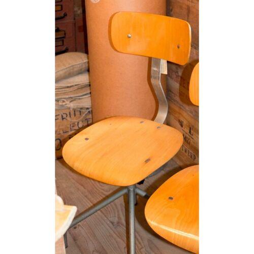 Chaise industriel metal et bois