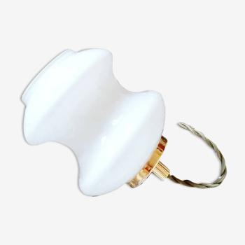 Baladeuse avec opaline blanche années 70