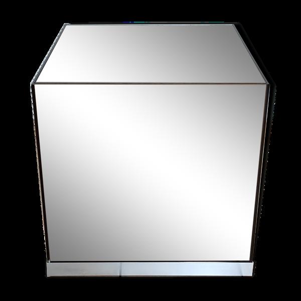 Cube miroir d'appoint 1970