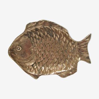 Solid brass fish empty vintage pocket