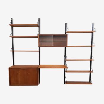 Teak book shelves, Poul Cadovius for Royal System  1950's
