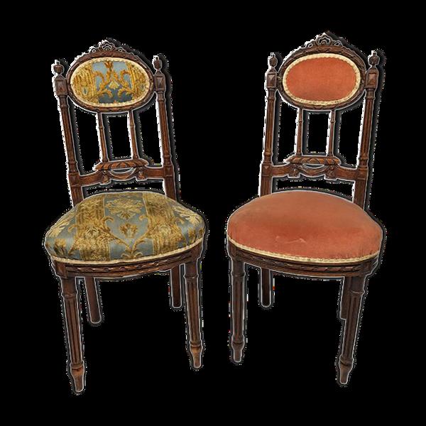 Selency Paire de chaises de style Louis XVI vers 1900