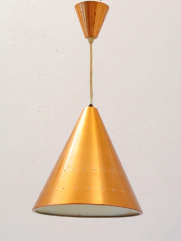 Copper Fog & Murop sixties vintage scandinavian pendant lamp