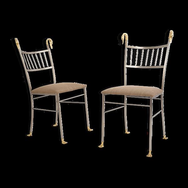 Paire de chaises cygnes, USA 1970