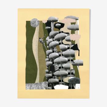 """Collage """"Le baigneur de Créteil"""""""