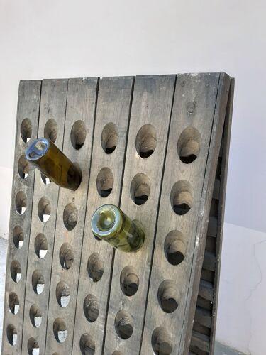 Pupitre à bouteilles de champagne ancien 1900
