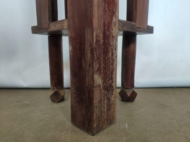 Meuble d'angle chêne à barreau