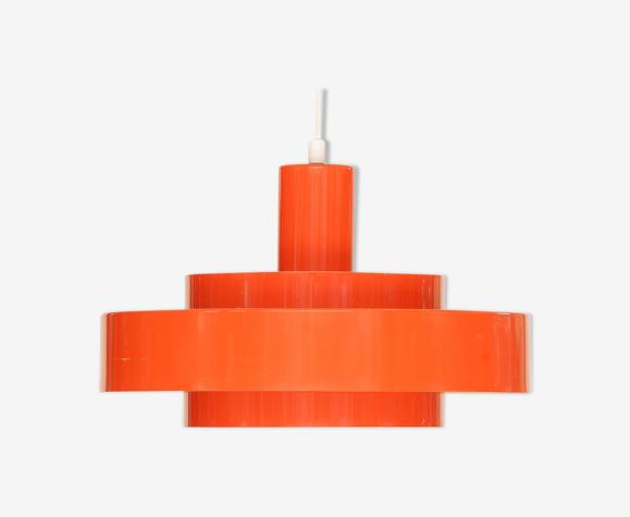 Suspension «Equator» en orange par Jo Hammerborg pour Fog & Mørup, Danemark années 1960