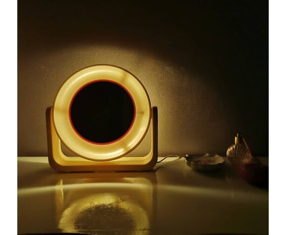 Miroir de maquillage rond avec lumière Allstar 80s 30x30cm