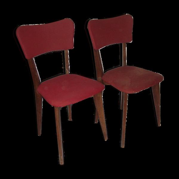 Paire de chaises années 1950