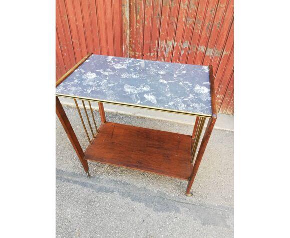 Deserte vintage bois et faux marbre