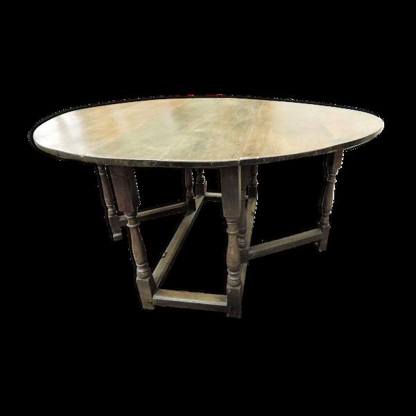 Selency Table Gateleg en chêne england XVIII siècle
