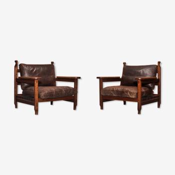 Paire de fauteuils, années 70
