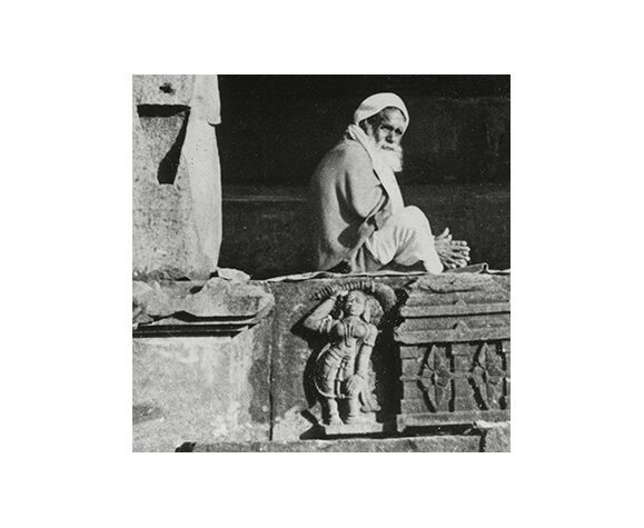 Photographie Temple and sadhu, Rajasthan