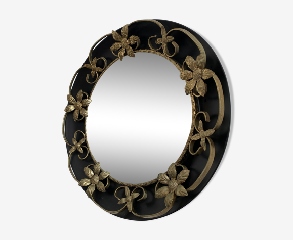 Miroir sorcière métal vintage
