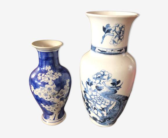 Lot de 2 vases chinois en porcelaine