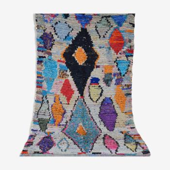 Berber carpet boucherouite 230 x 147 cm