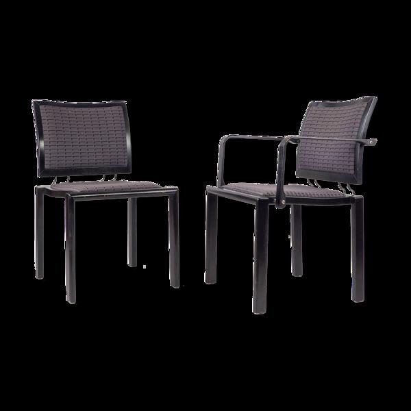 Paire de chaises par B. Ray i Ch. Polin, Dietiker, Suisse, années 1980