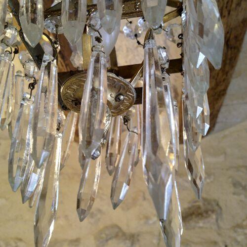 Lustre cristal début XXeme