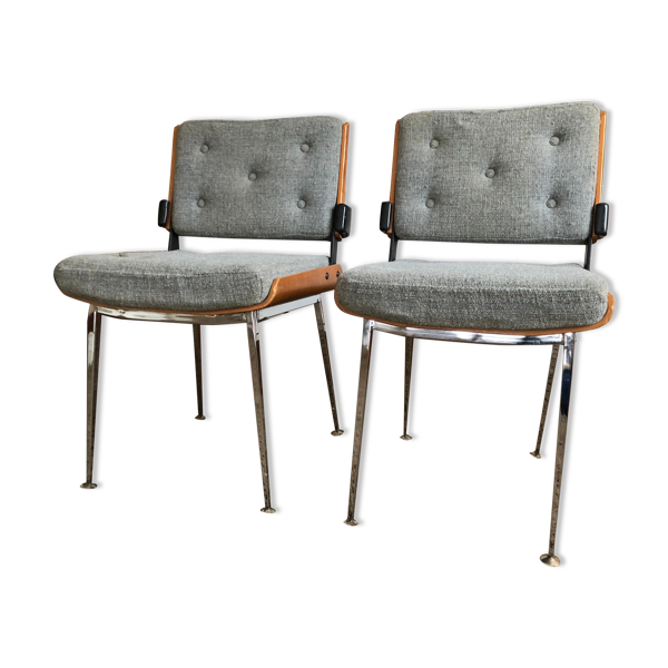 Selency Lot de 2 chaises édition Modern'tube 1960