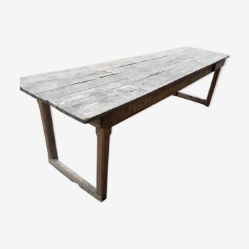 Table de ferme rustique 260 cm