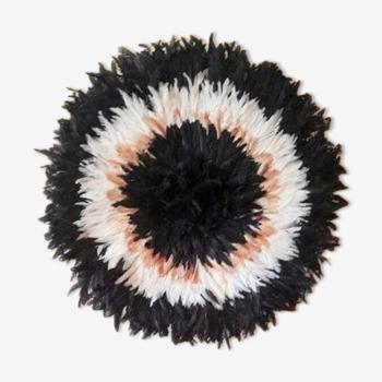 Juju hat noir intérieur blanc beige 80 cm